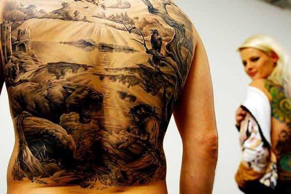 tattoos designs for men on back. Full Back Tattoo Design for