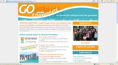 Capture du site de campagne de GO Citoyenneté