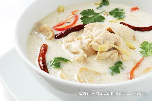 chicken coconut soup tom kha kai
