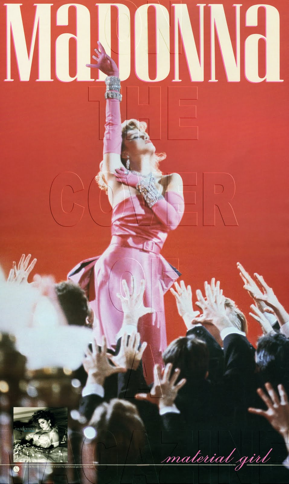 Book Cover Material Girl : Madonna on the cover of a magazine otcoam rare