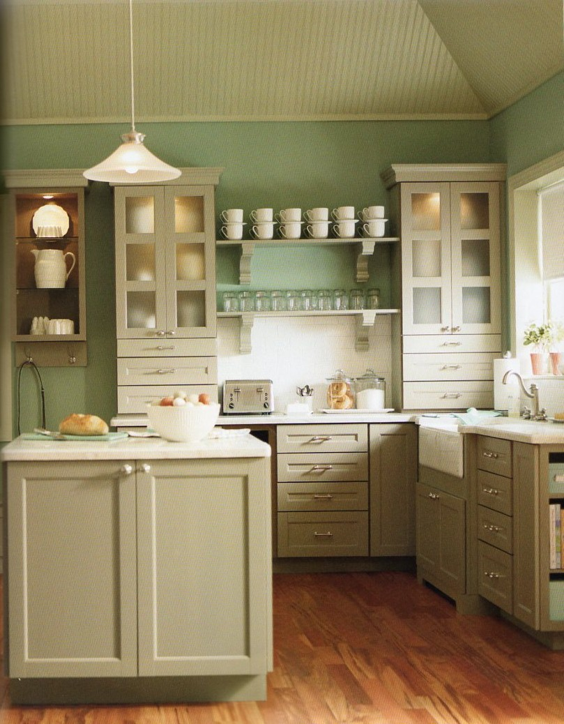 House blend martha stewart living cabinetry countertops for Country kitchen cabinets