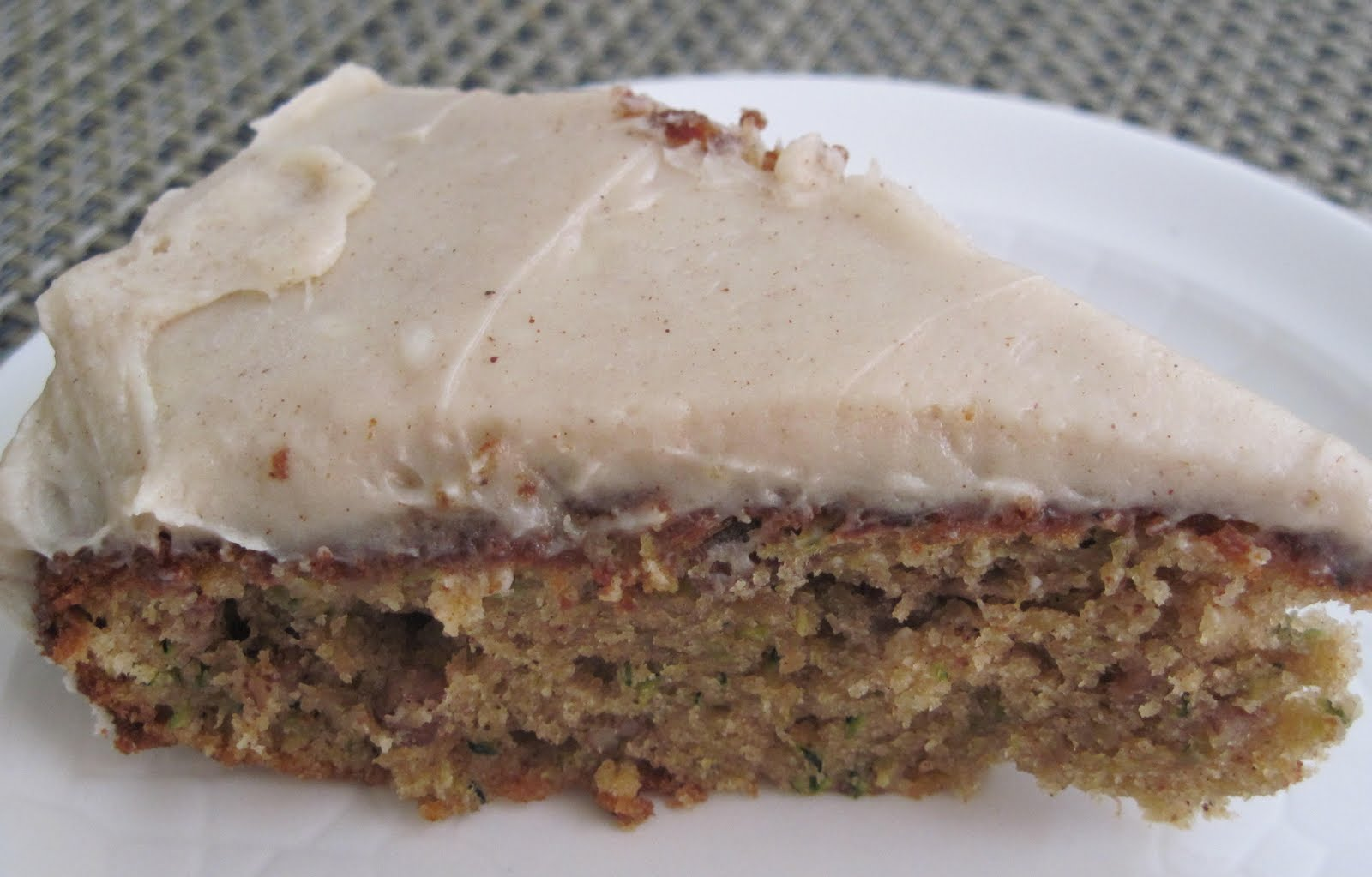 Zucchini Nut Cake with Cream Cheese Frosting | An American Housewife