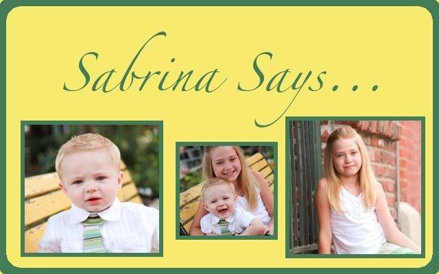 Sabrina says...