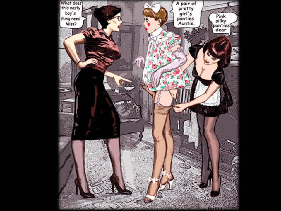 Forced Feminization Art Work http://internationalsissyboy.blogspot.com/2010/10/pantyhose-lessons.html