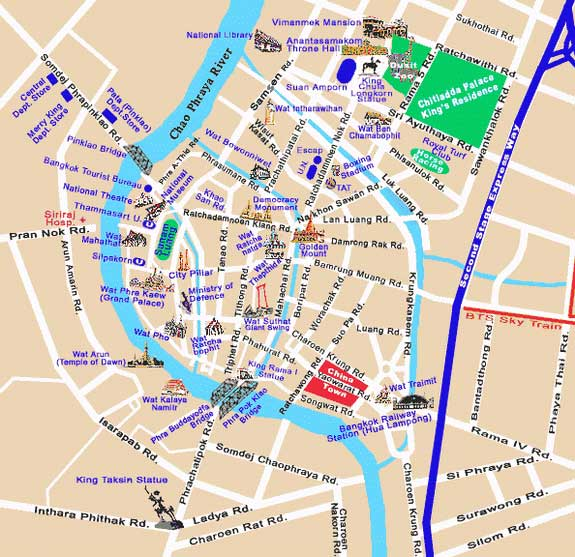 Images and Places Pictures and Info bangkok map in english – Bangkok Tourist Map Pdf