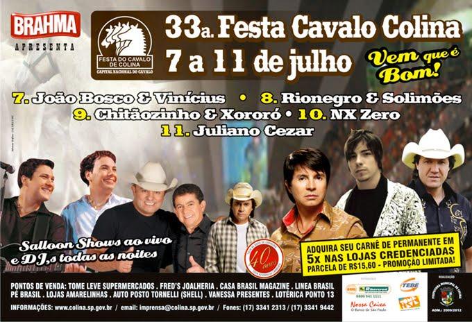 33.ª.  Festa Cavalo Colina / 7 a 11 de julho 2010