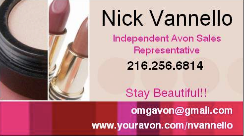 Avon man sells avon business cards make yours work double duty if youre like any other business person you have a business card name phone number website address standard stock maybe some clip art very nice reheart Choice Image