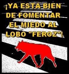 INTOLERABLE CAMPAA DE TRFICO CONTRA LA IMAGEN DEL LOBO EN PAMPLONA