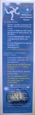 Marcapáginas de la Biblioteca del IES