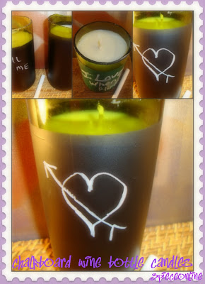 New in the Shop: Chalkboard Wine Bottle Candles
