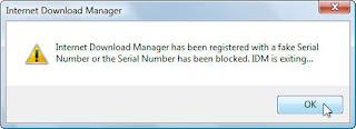 Cara Mengatasi IDM yang di blockir - Fake Serial Number