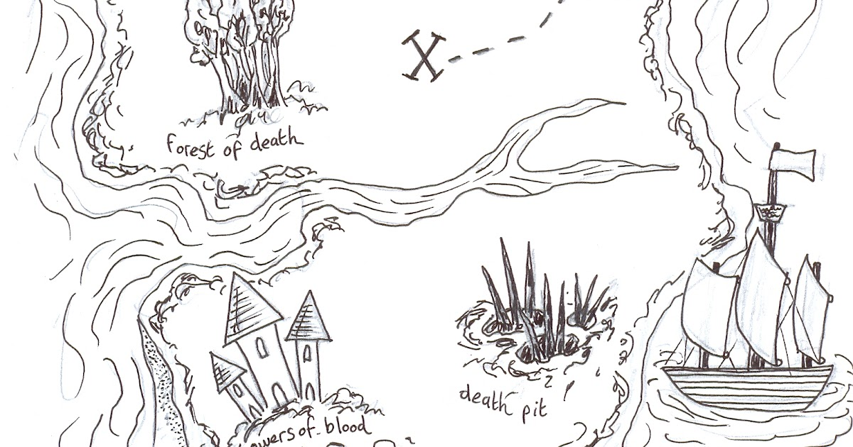 how to draw a treasure map with scale
