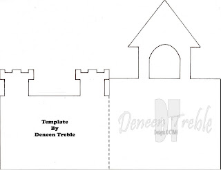 A path of paper castle card template instructions for Castle cut out template