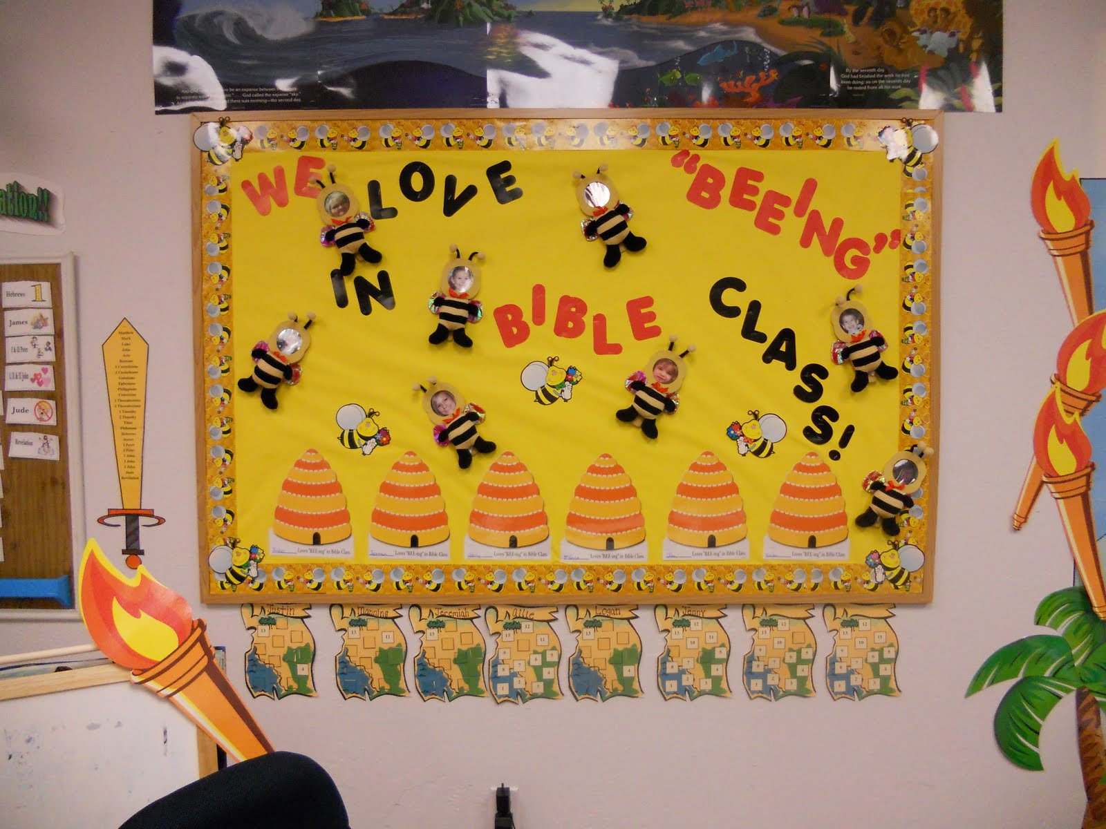 New Attendance Chart Board Time For Summer And Bee Ing In Bible Class
