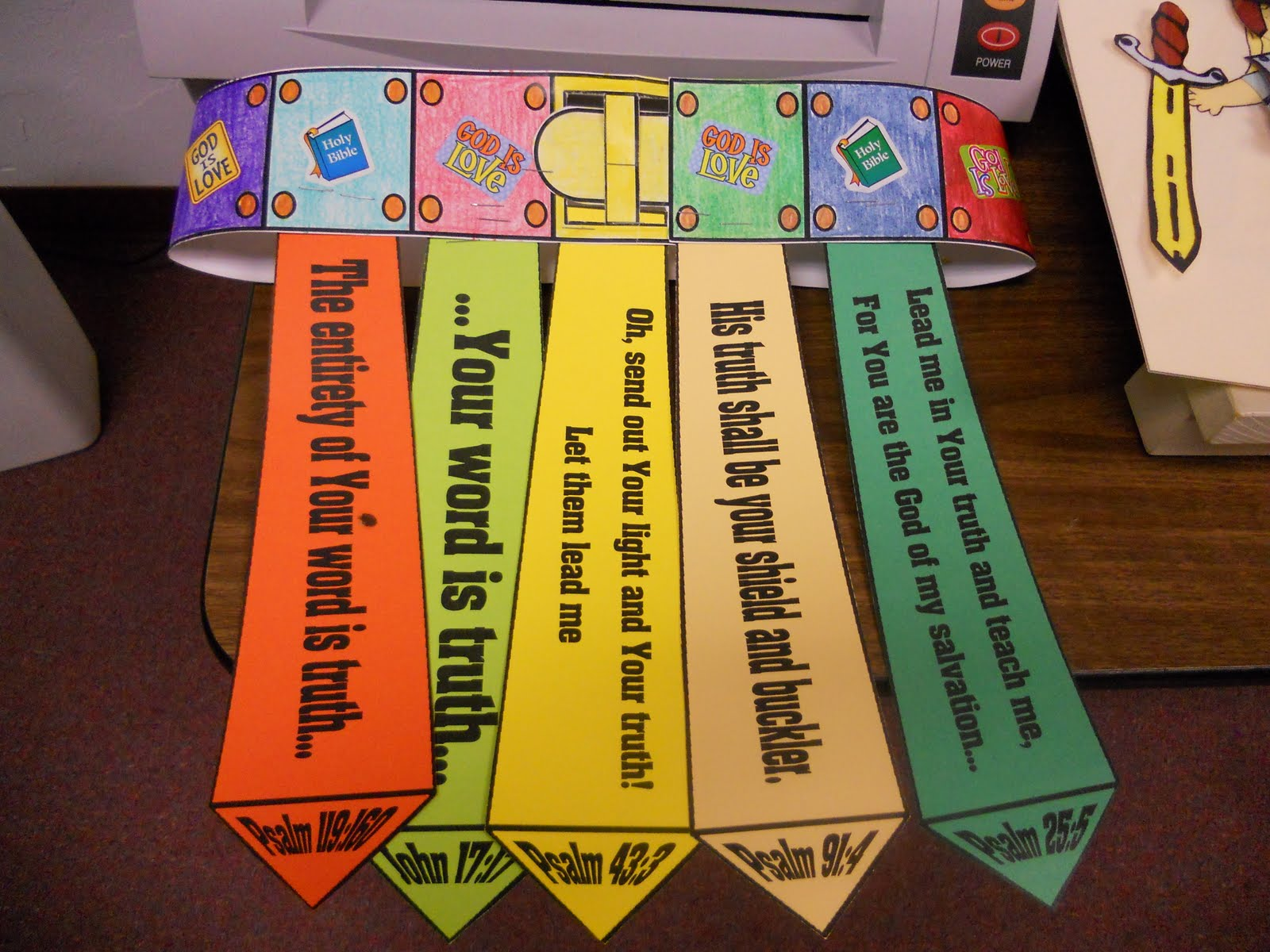 Belt of truth craft for preschoolers