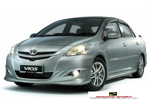 Product : TRD Sportivo Full Skirting Description : Full Skirting ( Front ,  Sidex2 And Rear Skirt ) Remark : For Toyota Vios 07 010 ( PP Material )