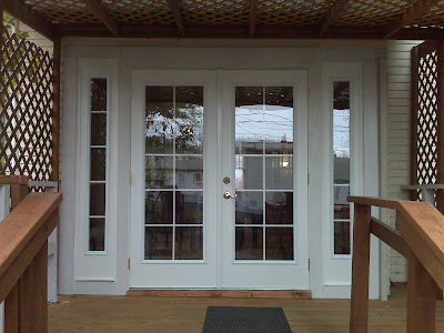 Consider it done construction march 2010 for French doors main entrance