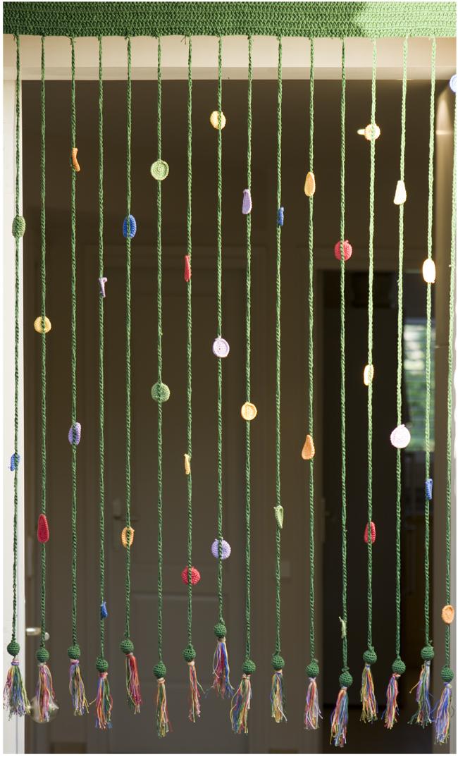 El blog de Dmc: Como hacer una cortina en ganchillo