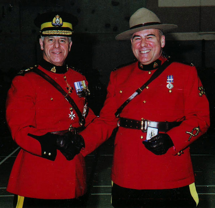 Photography of Real Mountie retired son after 38 years of service