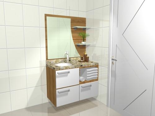 Casa da Gloria Ideias para os armarios dos Banheiros -> Banheiro Planejado Em L