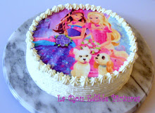 Barbie edible picture cake