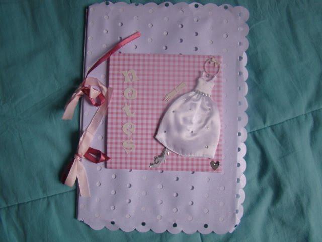 Caderno de anotação p/ noivas