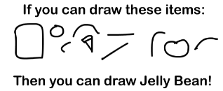 Fun4thebrain chatter how to draw jelly bean