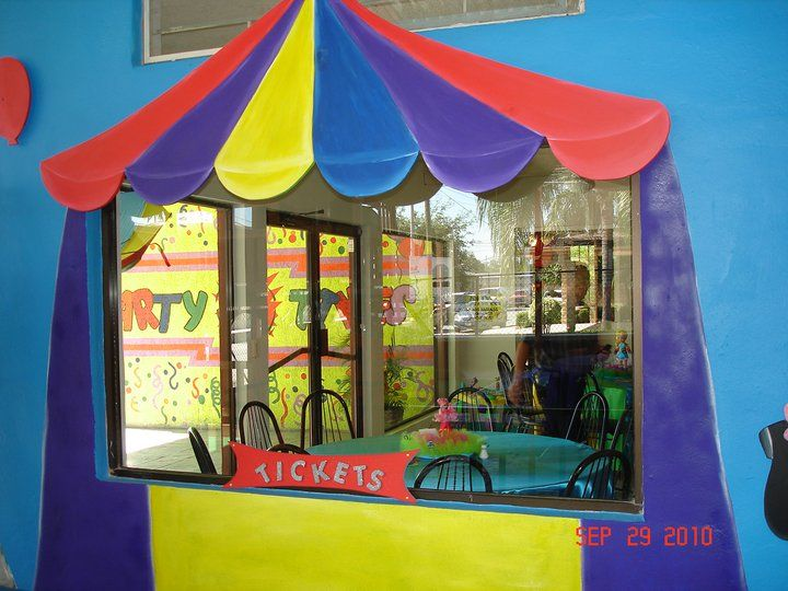Murales infantiles el circo salon de fiestas party times - Murales para salon ...