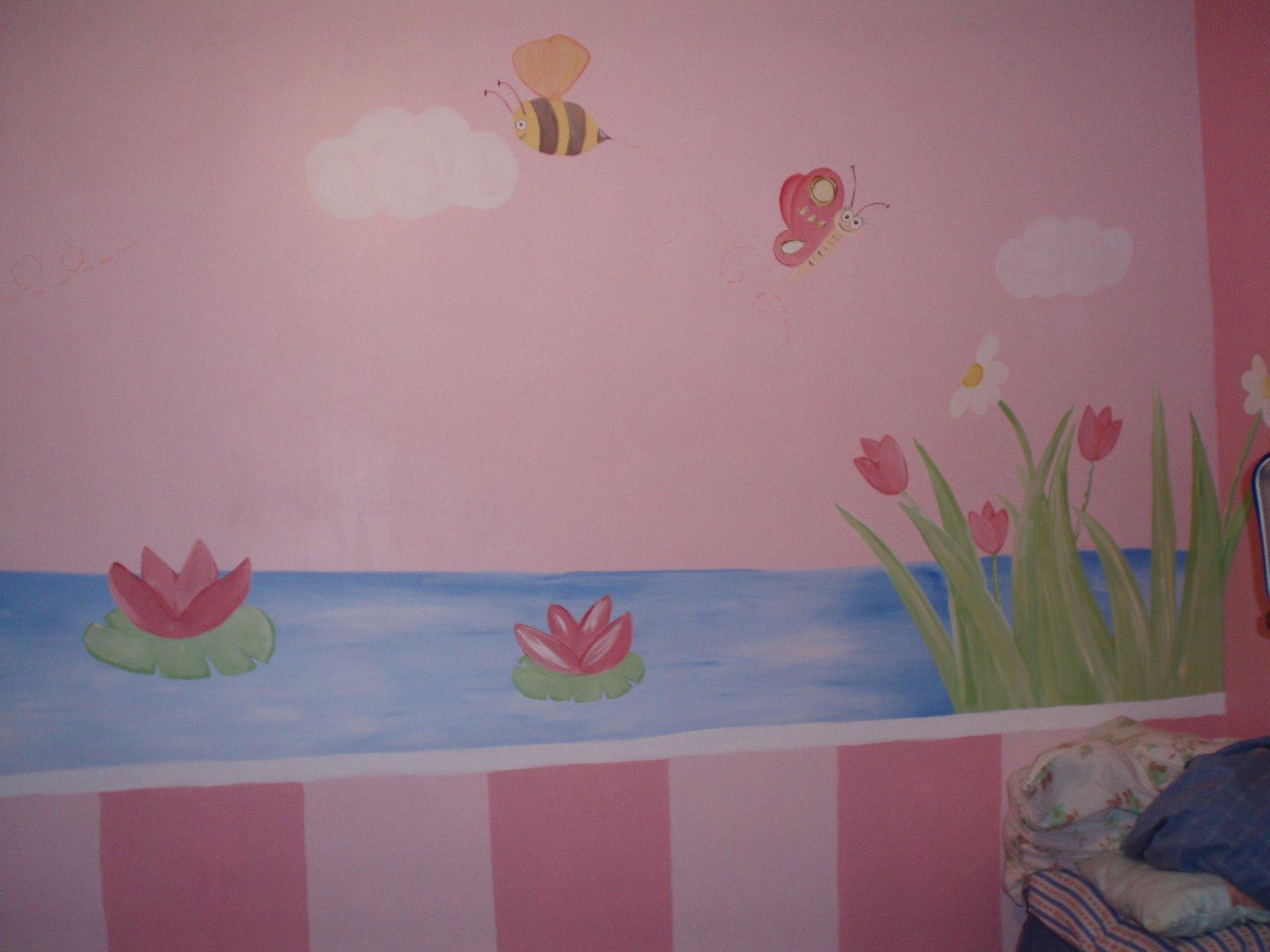 Murales infantiles caramelo recamara de corinna for Murales para decoracion