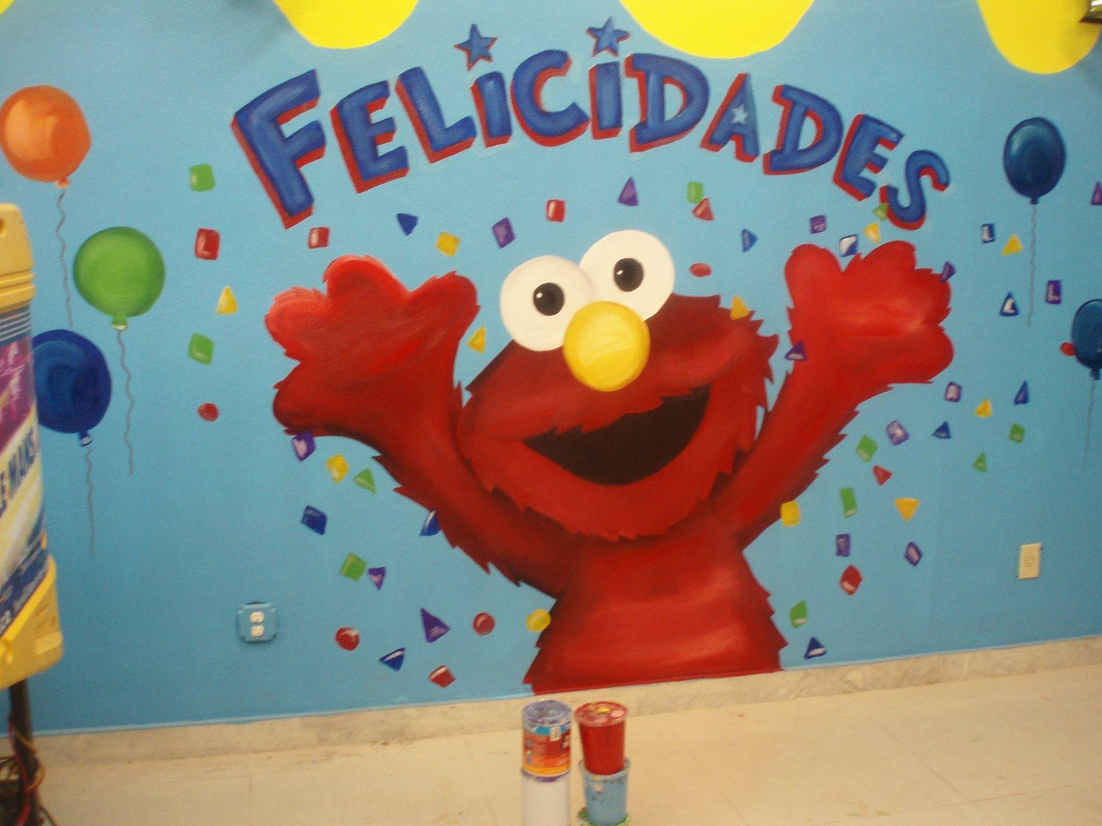 MURALES INFANTILES: Elmo