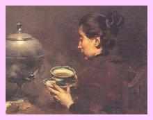 Um chá? Um café? Bem vinda...
