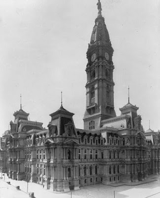 It was the City Hall in Philadelphia, Pennsylvania, which,