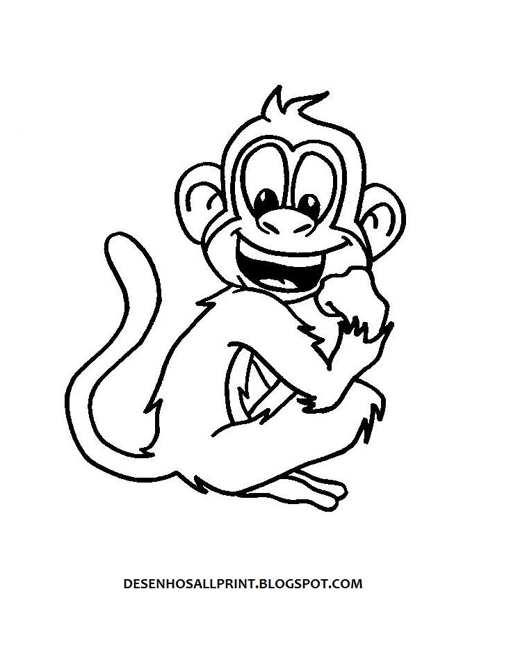 Desenhos de Macacos para Colorir Colorir  - imagens para colorir macaco