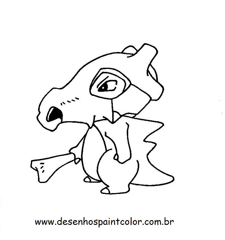 desenho do pokÉmon cubone para imprimir e colorir desenho