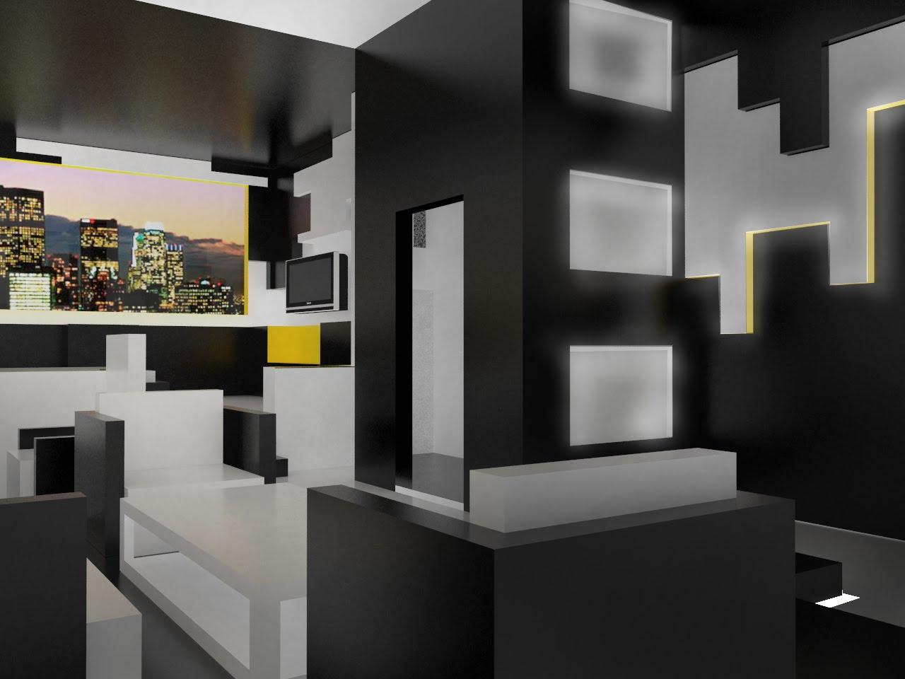 Angled Living Room
