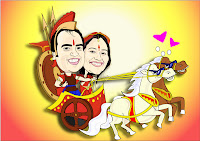 Webcartoonist Caricature Wedding