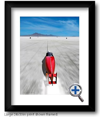 bonneville auto car motorcycle artwork and photo poster