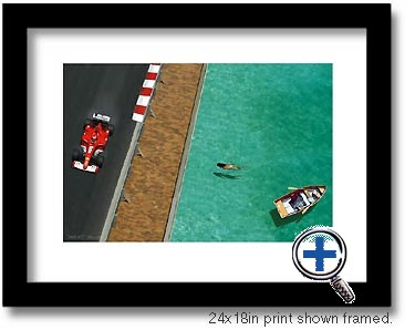 monaco auto car artwork and photo poster