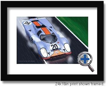 mcqueen auto car artwork and photo poster