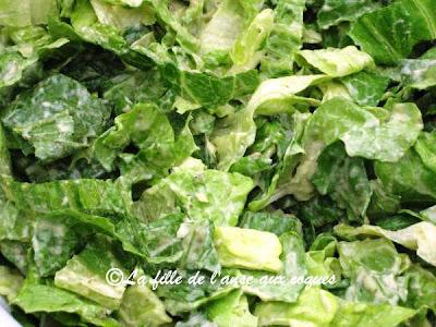 La fille de l 39 anse aux coques salade verte avec sauce l - Accompagnement salade verte ...