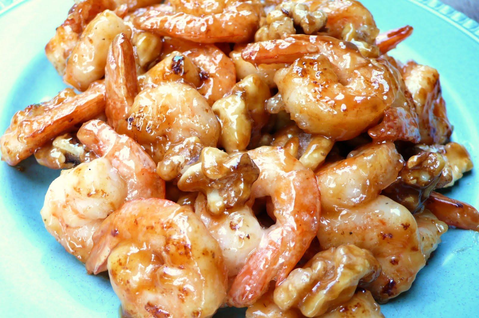 Honey Walnut Shrimp エビとクルミのハチミツソース | a ...