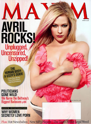 Avril Lavigne Maxim Magazine March 2008