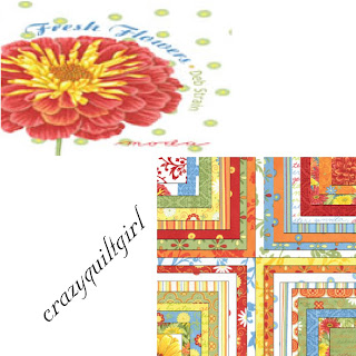 Moda FRESH FLOWERS Fabric by Deb Strain