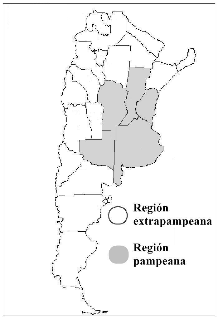 El Area Pampeana y Extra-Pampeana, Argentina