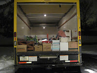 packed rented truck