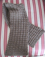 knitted mans scarf