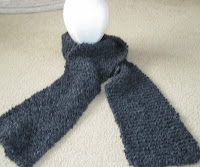 knitted black scarf