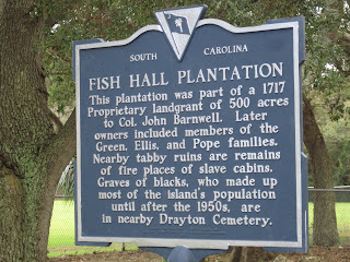 Fish Hall Plantation Historical Marker