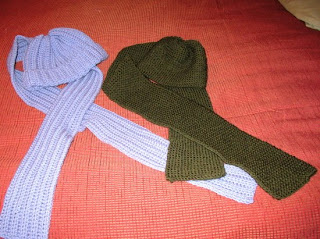 knitted scarf and hat sets