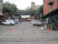 blocked street